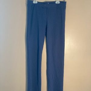 Betabrand striped navy pants